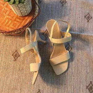 Stuart weitzman sling back kitten heel sandals 8